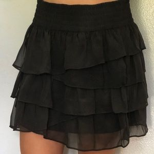 Sparkly black layered American Eagle skirt